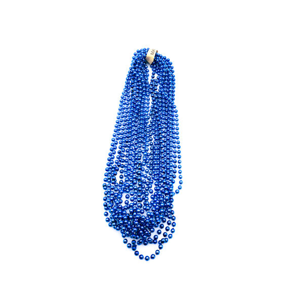 "33"" 7mm Round Throw Beads - Blue"