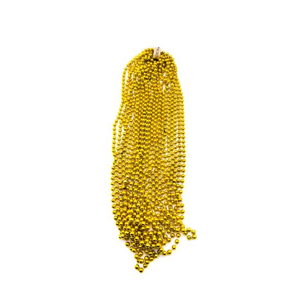 "48"" 12mm Round Throw Beads - Gold"