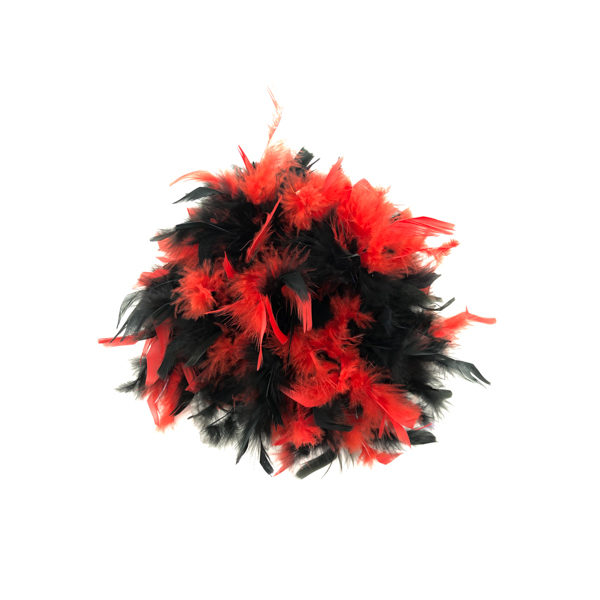 Black And Red Mix Feather Boa