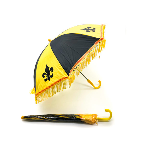 Black & Yellow Fleur De Lis Umbrella