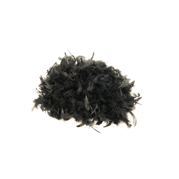 Black With Silver Tinsel Feather Boa