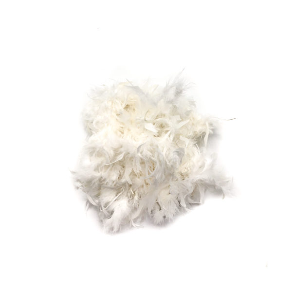 Bright White Feather Boa