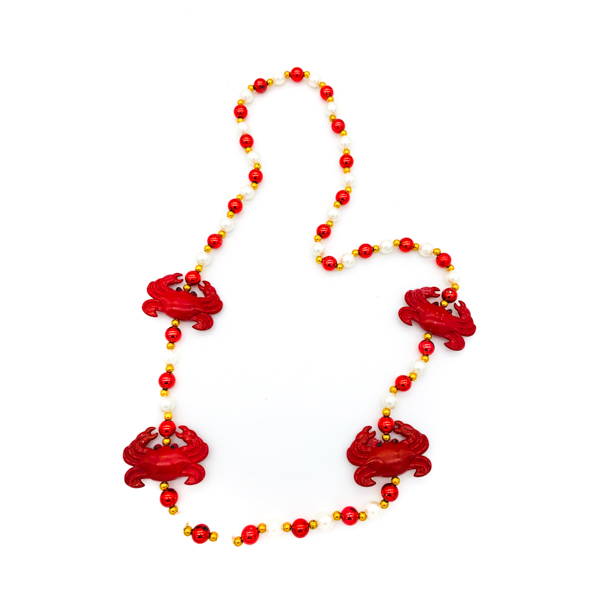 Crab Red – White Bead
