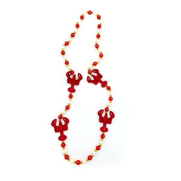 Crawfish Red – White Bead