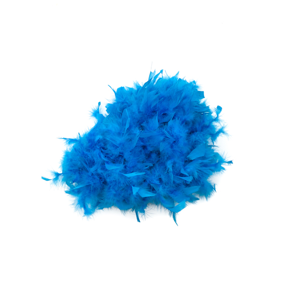 Electric Blue Feather Boa