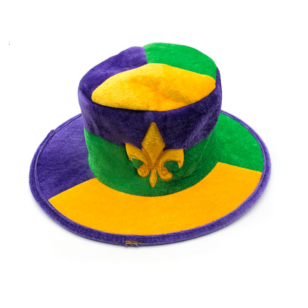 Fleur De Lis Hat - Purple, Green & Gold