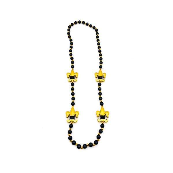 Fleur De Lis Polystone – Black Bead