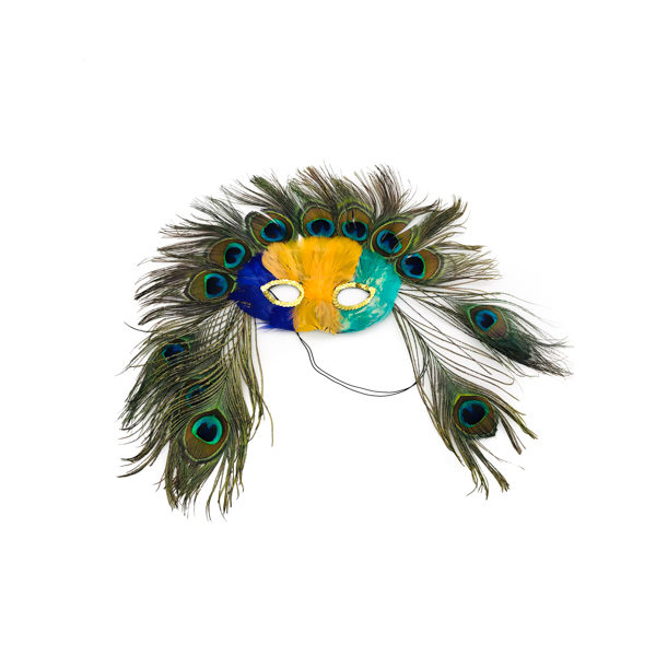 Pgg Face Peacock Feather Mask