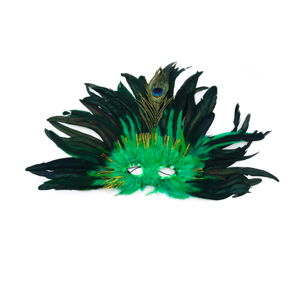 Mask Green Feather