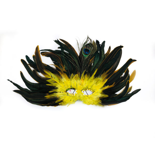 Yellow Feather Mask