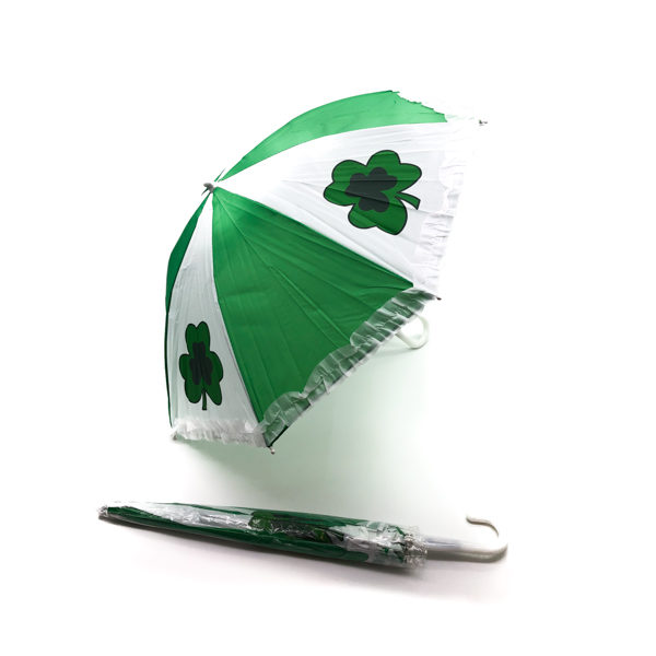 Green & White Clover Umbrella