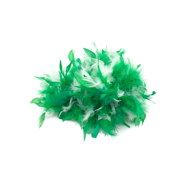 Green And White Mix Feather Boa
