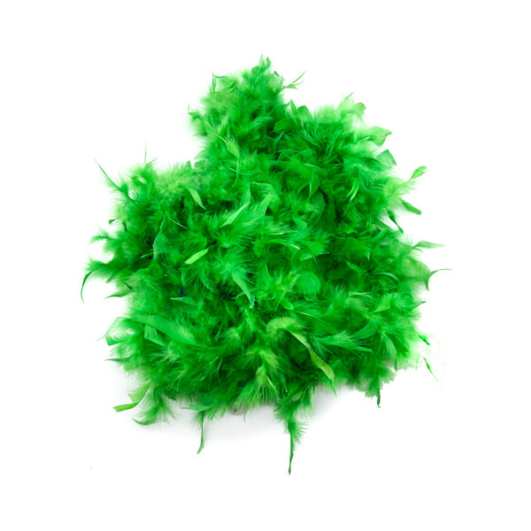 Green, White, Red Mix Feather Boa