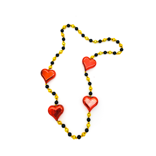 Heart Red On – Black & Gold Bead