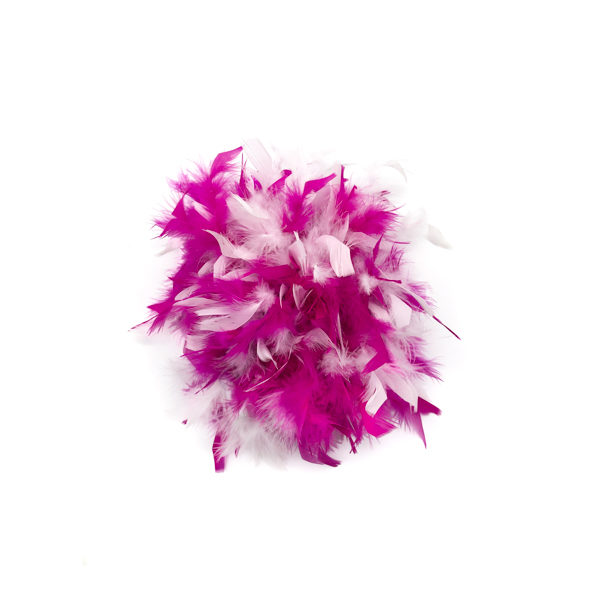 Hot Pink And White Mix Feather Boa