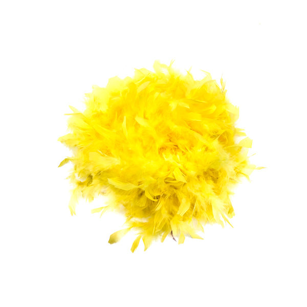 Lemon Yellow Feather Boa