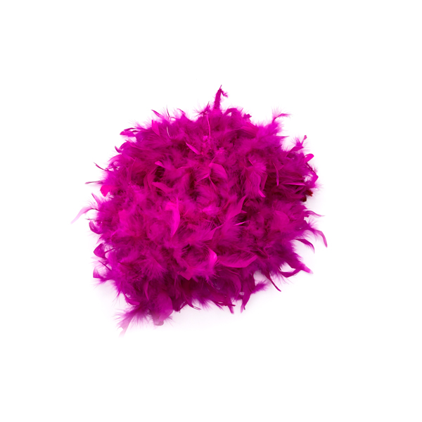 Magenta With Gold Tinsel Feather Boa