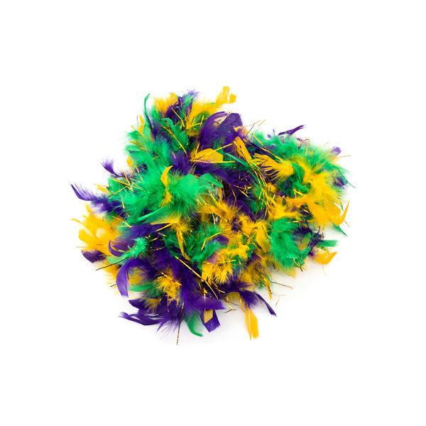 Mardi Gras Mix Feather Boa