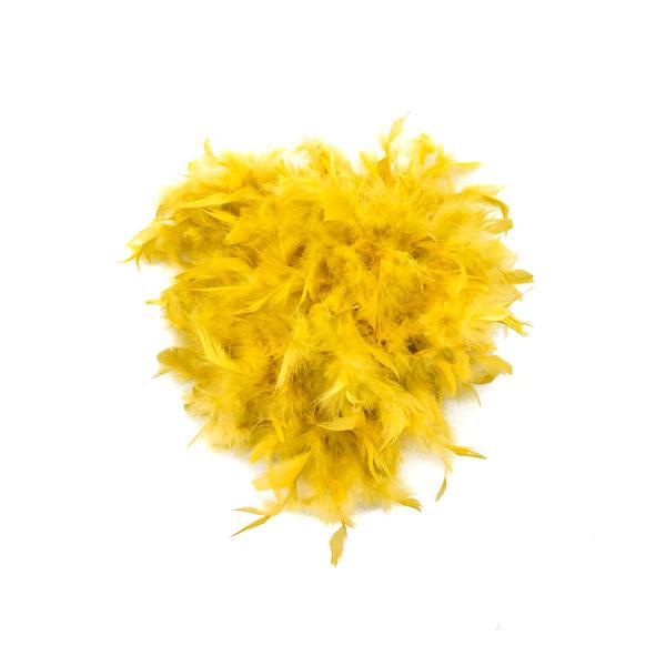 Mustard Feather Boa