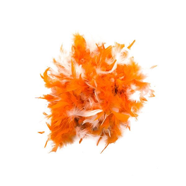 Orange And White Mix Feather Boa