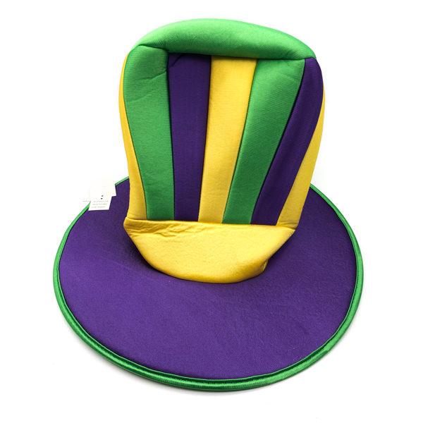 Tall Hat - Purple, Green & Gold