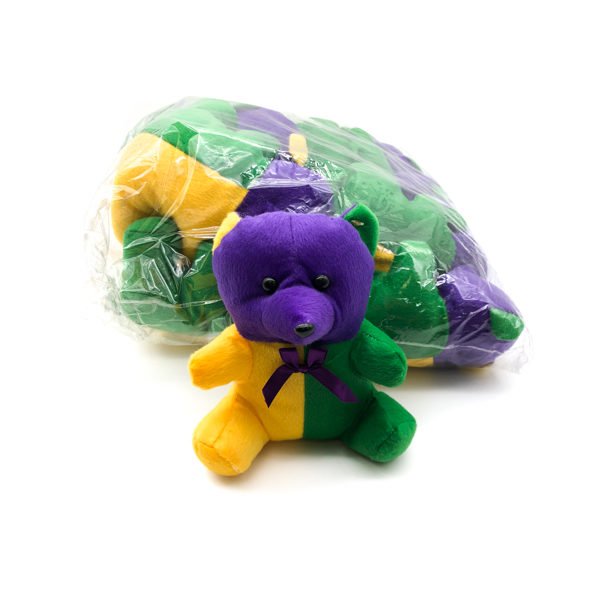 Purple, Green & Gold Bear
