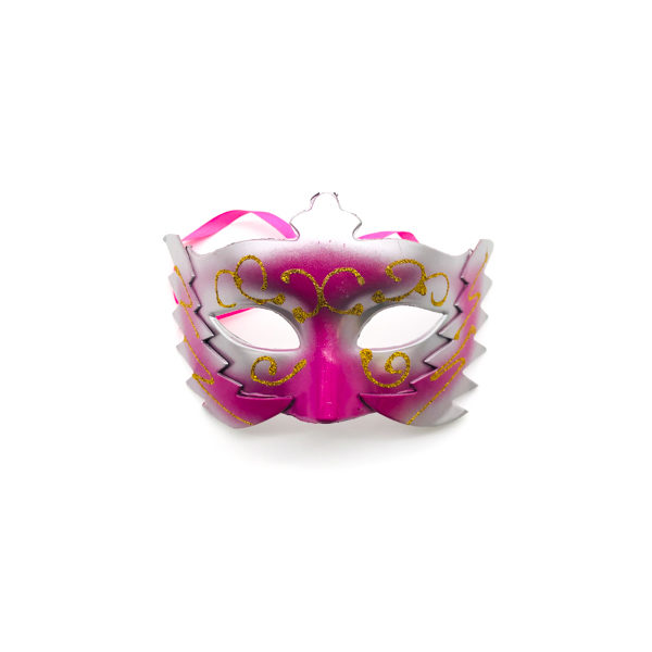 Pink Silver Gold Mask – 399