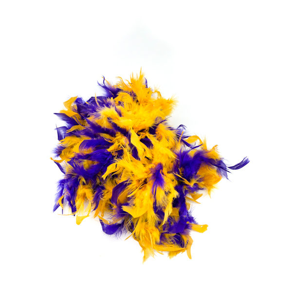 Purple And Gold Mix Feather Boa