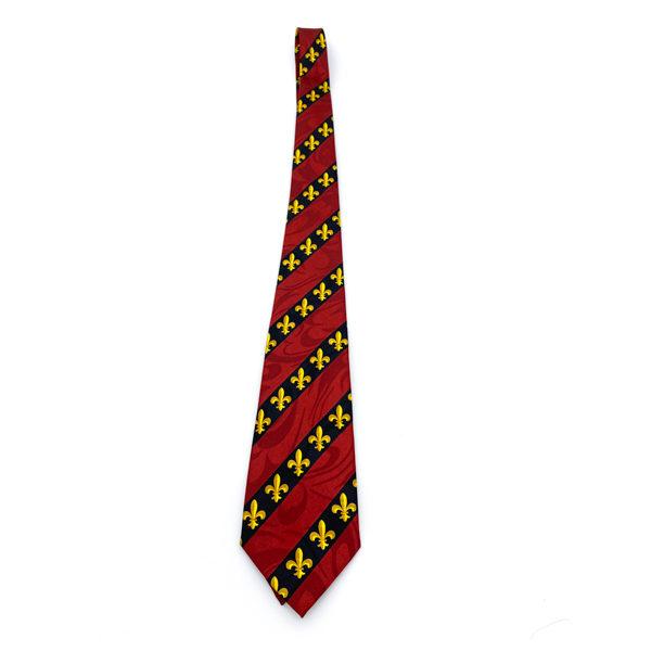 Red Fleur De Lis Tie