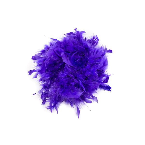 Royal Purple With Gold Tinsel Feather Boa