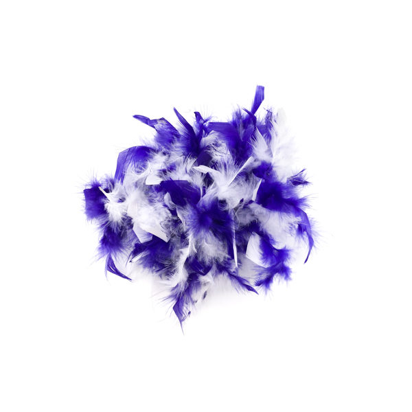 Royal Purple With White Mix Feather Boa