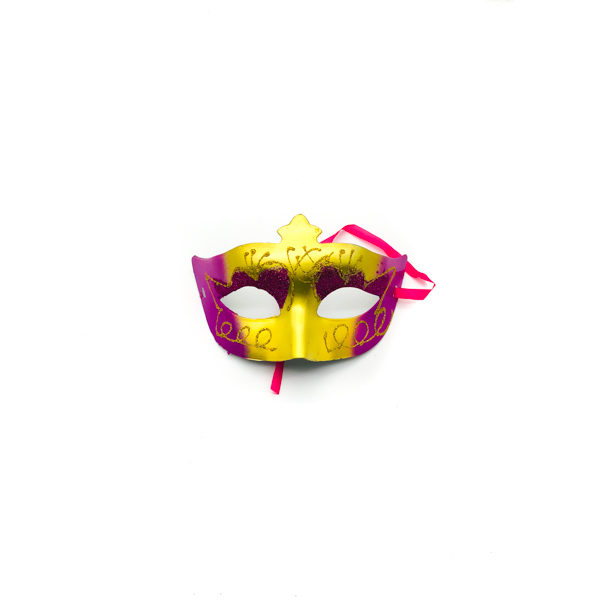 Hot Pink & Gold – Venetian Mask