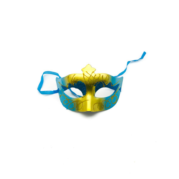 Light Blue & Gold – Venetian Mask