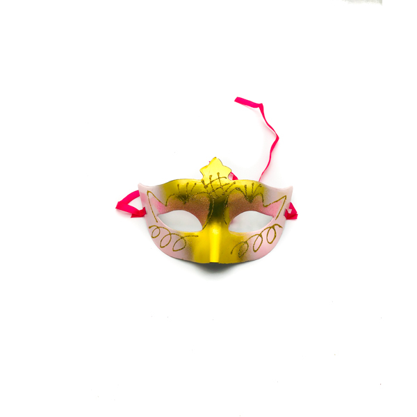 Light Pink & Gold – Venetian Mask