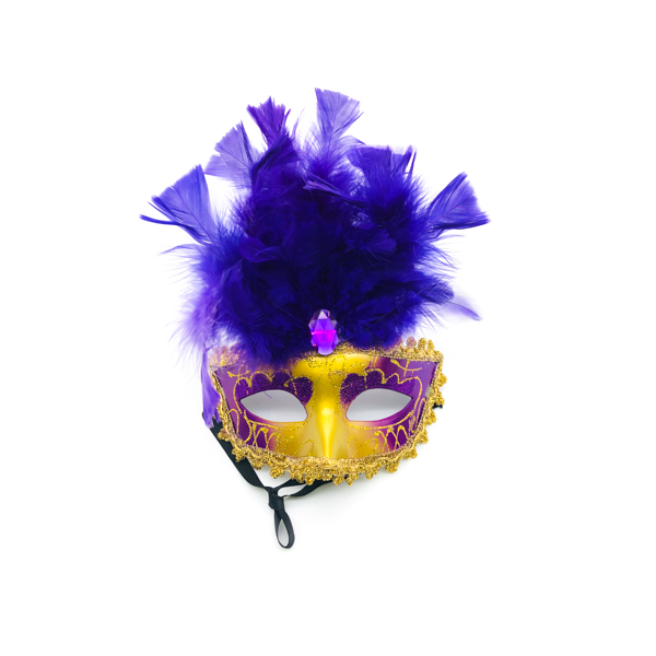 Purple Feathers Venetian – Mask