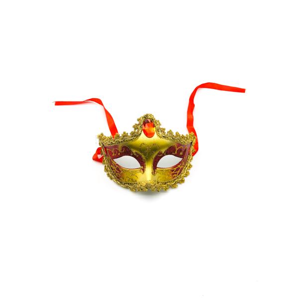 Red & Gold Diamond – Venetian Mask