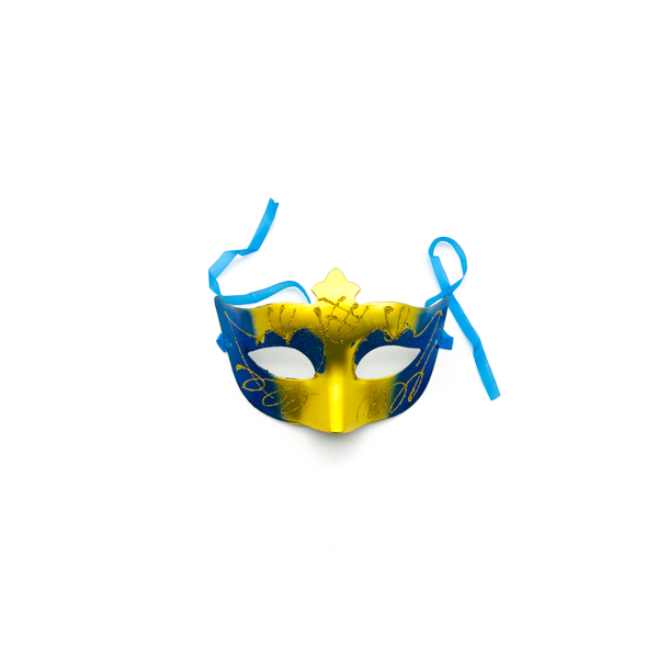 Royal Blue & Gold – Venetian Mask